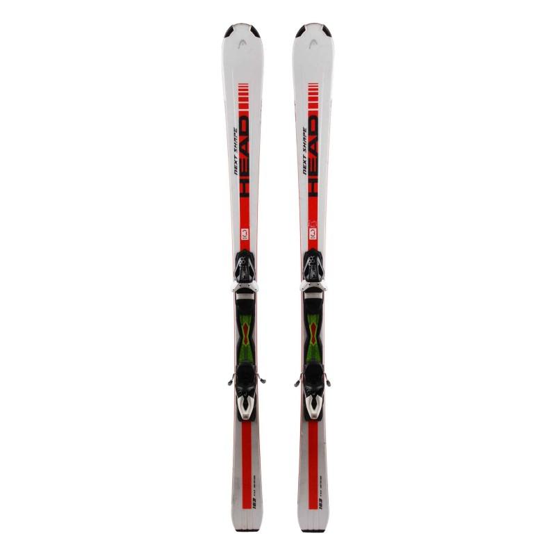 Ski Gelegenheit Head Next Shape weiß rot + Bindungen