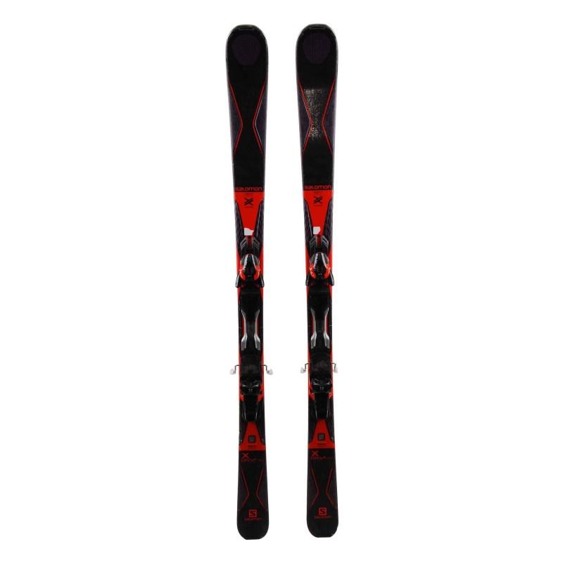 Ski Salomon X Drive 80r TI Weiß / Blau / Gelb + Bindungen