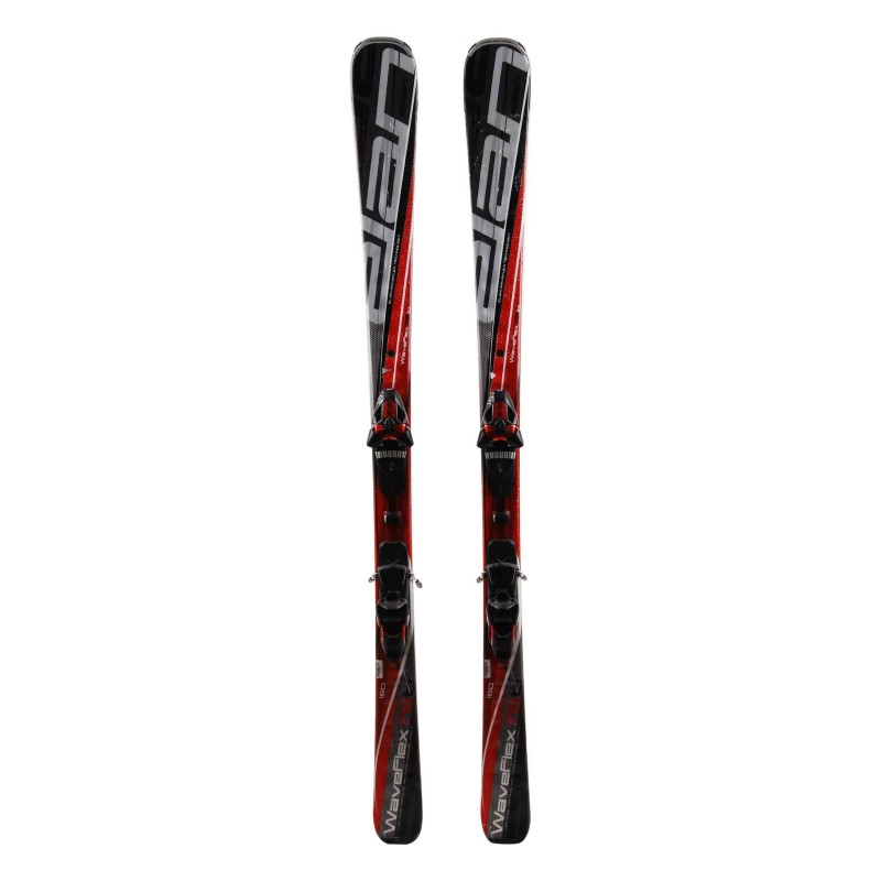 esquí utilizado Elan Waveflex 78 TI rojo + fijaciones