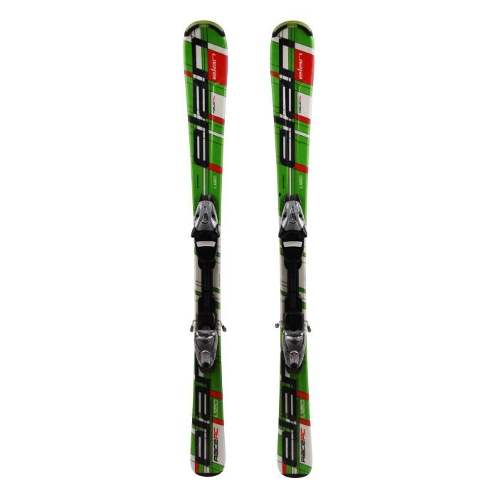 Used Junior ELAN RACE RC green ski + bindings