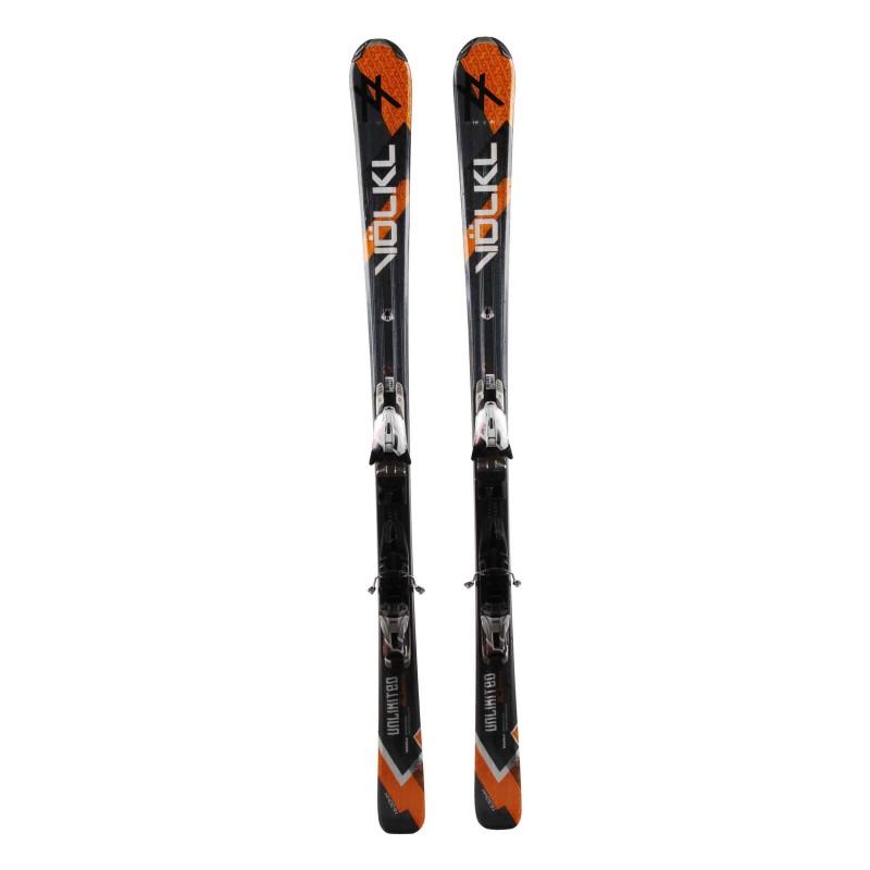 Gebrauchter Ski Völkl AC 3 Motion orange grau + Bindungen