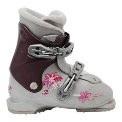 Chaussure ski occasion Salomon Junior T2 / T3 gris-violet