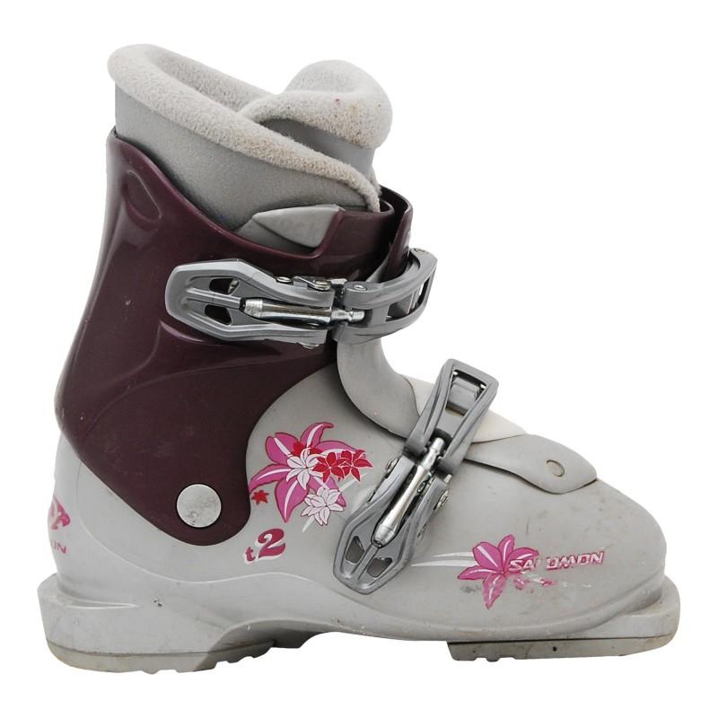 Salomon Junior T2 / T3 Skischuh Grau-Lila