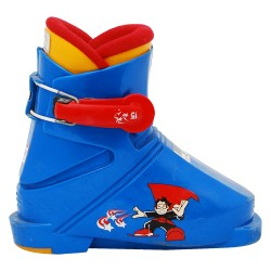 Chaussure ski occasion Junior Salomon superman bleu