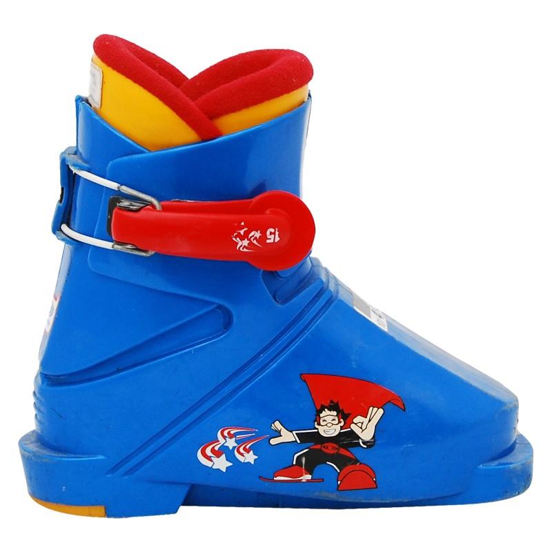 Chaussure ski occasion Junior Salomon superman bleu