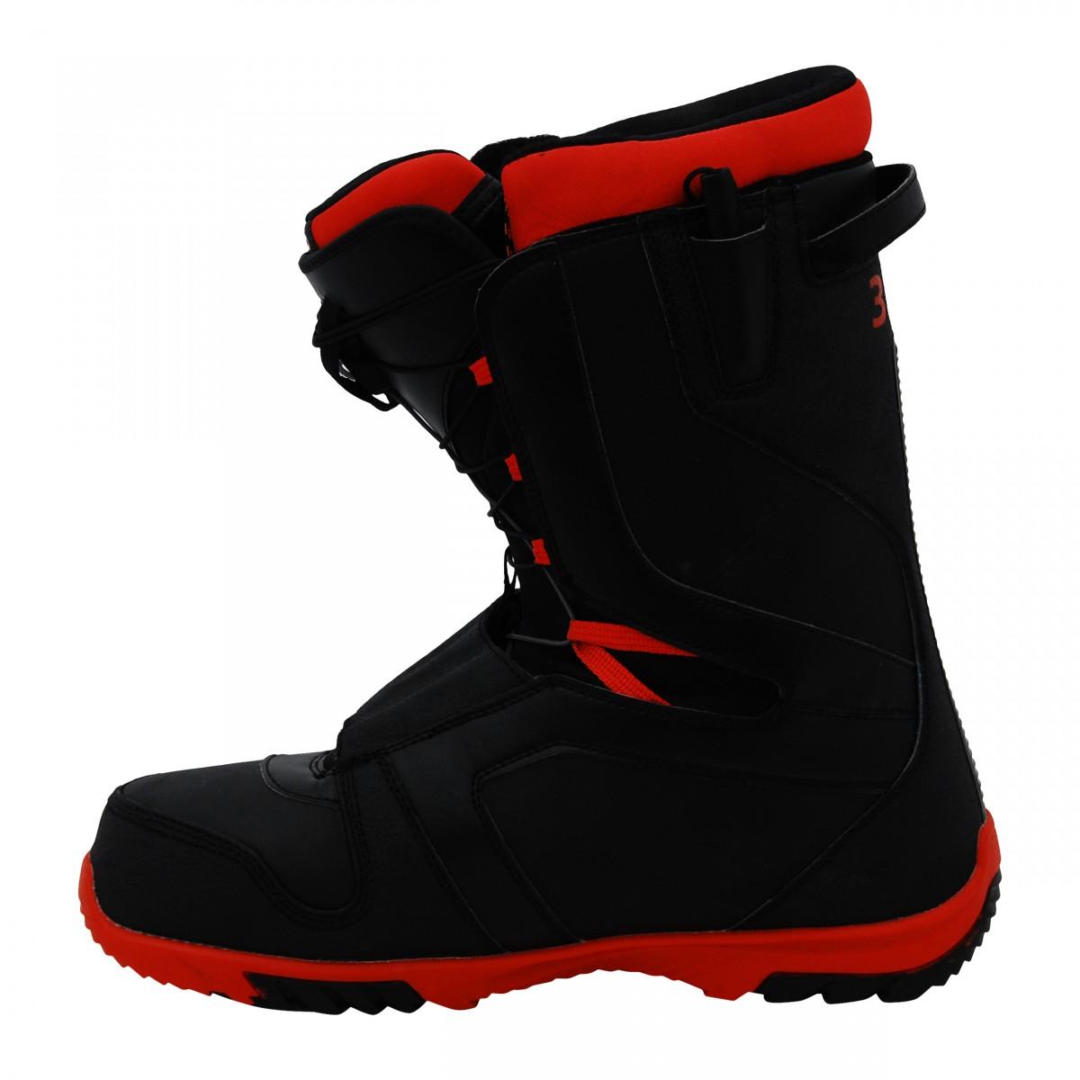 Boots-de-snowboard-occasion-Nitro-TlS-noir-semelle-rouge miniature 6