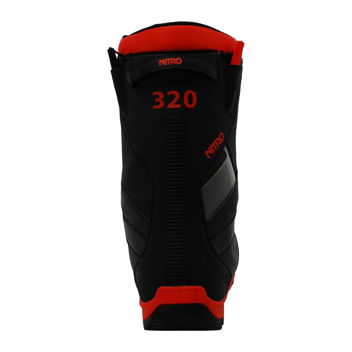 Boots-de-snowboard-occasion-Nitro-TlS-noir-semelle-rouge miniature 5