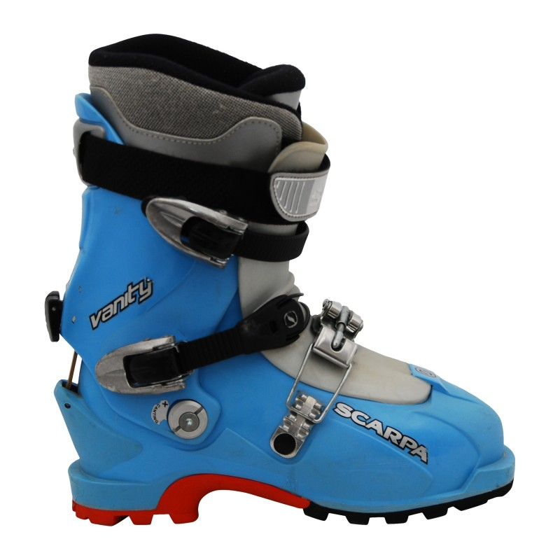 Chaussure de ski occasion de randonnée Scarpa Vanity bleu qualité A