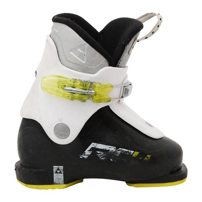 Fischer Race 4 Junior Skischuh, schwarz / weiß