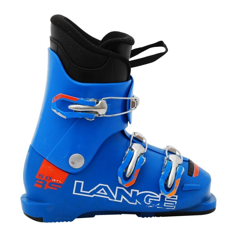 Chaussure de Ski Occasion Junior Lange RSJ 50R bleu/orange qualité A