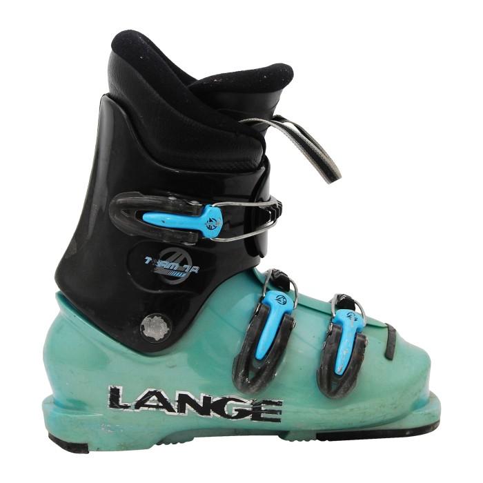 Lange Team 7/8R black and blue junior used ski boot