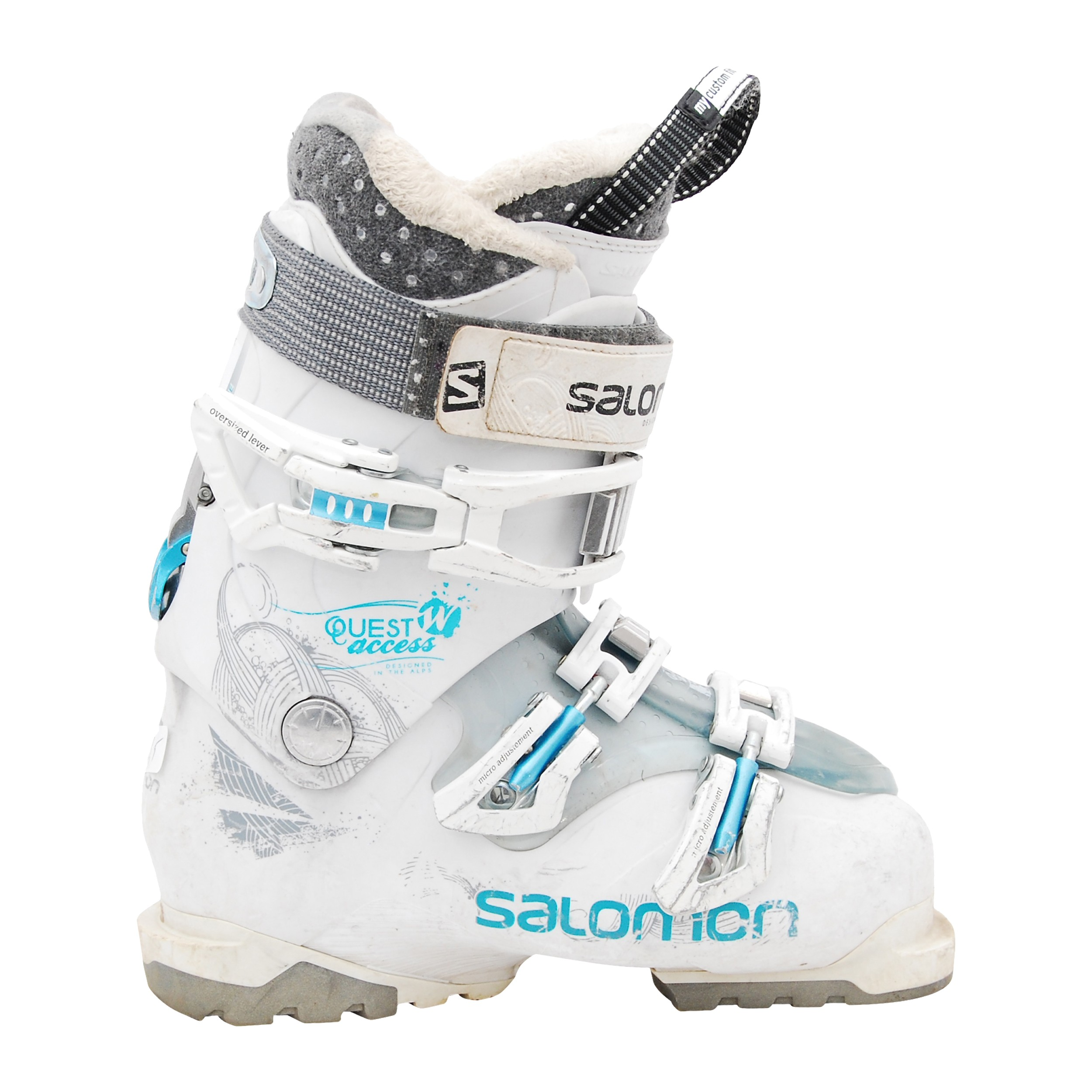Ski boot Occasion Salomon quest access w 50 white