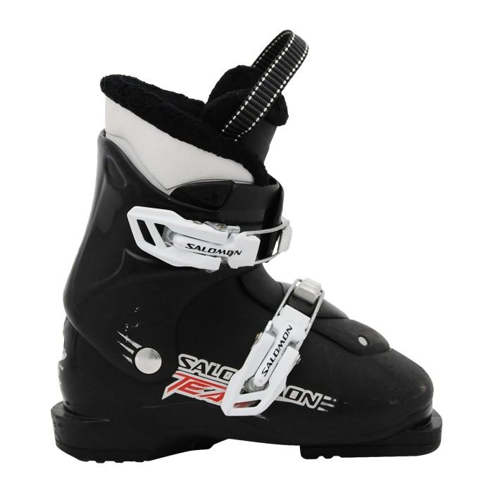 Junior Salomon T2 T3 Black / Green Junior Ski Boot