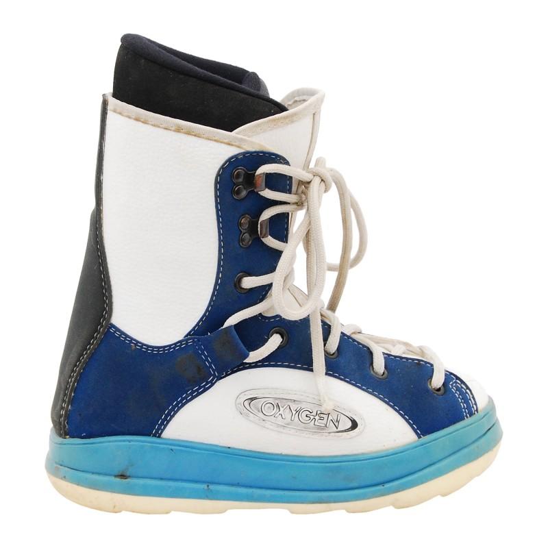 Boots occasion junior Oxygen Disco bleu blanc qualité A
