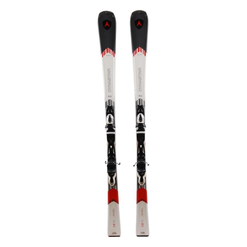 Gebrauchter Ski Dynastar CR 70 grauweiß + Bindungen