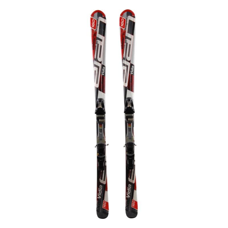 Gebrauchte Elan Exar Vidia Ski grau / rot + Bindungen