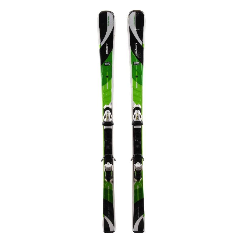 Esquí usado Elan Amphibio Waveflex 78 Ti Negro Verde + Fijaciones