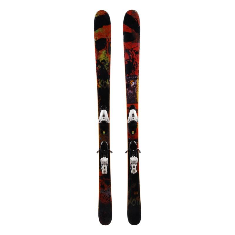 Junior Scott ROOK Junior Schwarz / Orange Ski + Bindungen