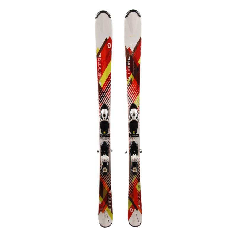 Ski Scott Reverse rot weiß + Bindungen