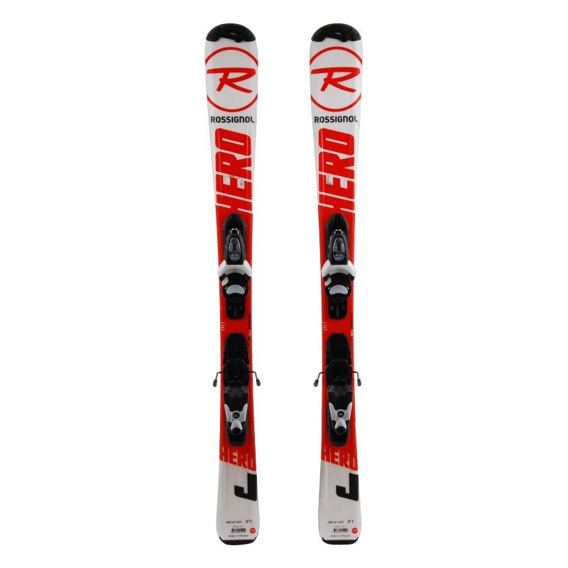 Ski occasion junior Rossignol Hero J Qualité A + fixations