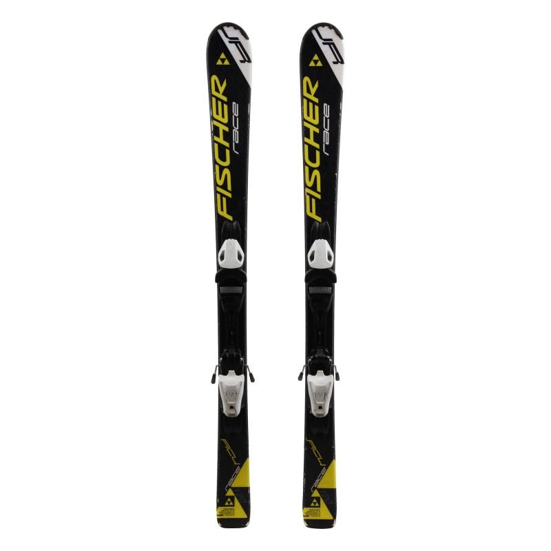 Junior ski Fischer RC4 Race Amarillo / Negro + fijaciones