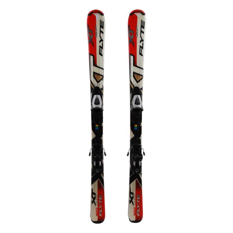 Junior ski Tecnopro XT Flyte red + bindings