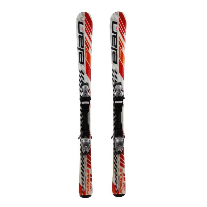 Junior ski Elan Formula white / red / orange + bindings