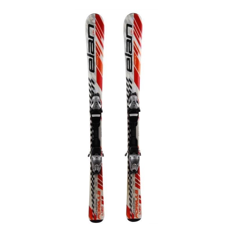 Junior ski Elan Formula blanco / rojo / naranja + fijaciones