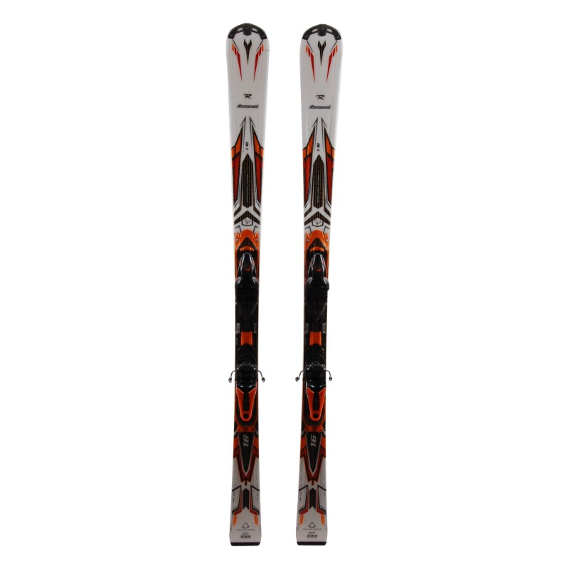 Ski Rossignol Pursuit 16 Blanc Orange + Bindungen