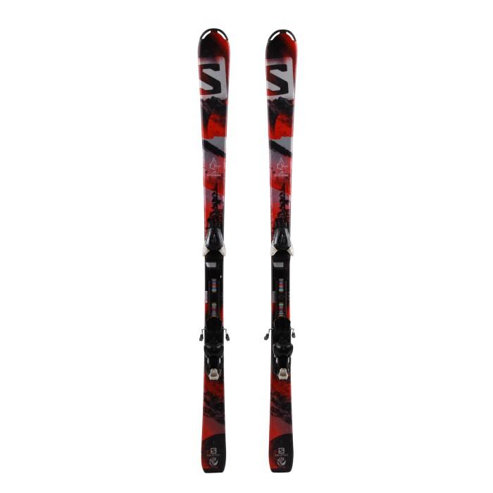 Junior Ski Salomon Qmax Jr Red + Bindings
