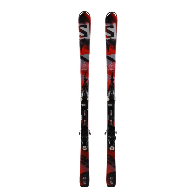 Junior Ski Salomon Qmax Jr Rot + Bindungen