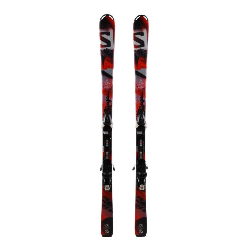 Ski occasion Salomon Qmax Junior Qualité A + Fixations