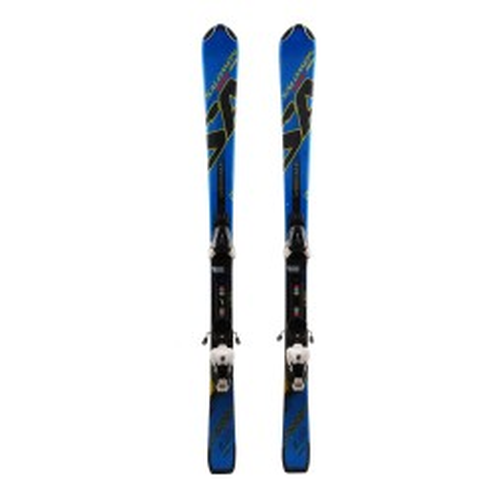 Ski junior Salomon Jr Kart blue + Bindings