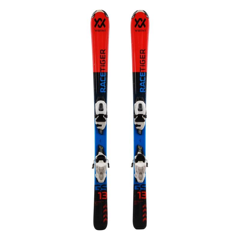Junior Ski Völkl Racetiger GS orange / grün + Bindungen