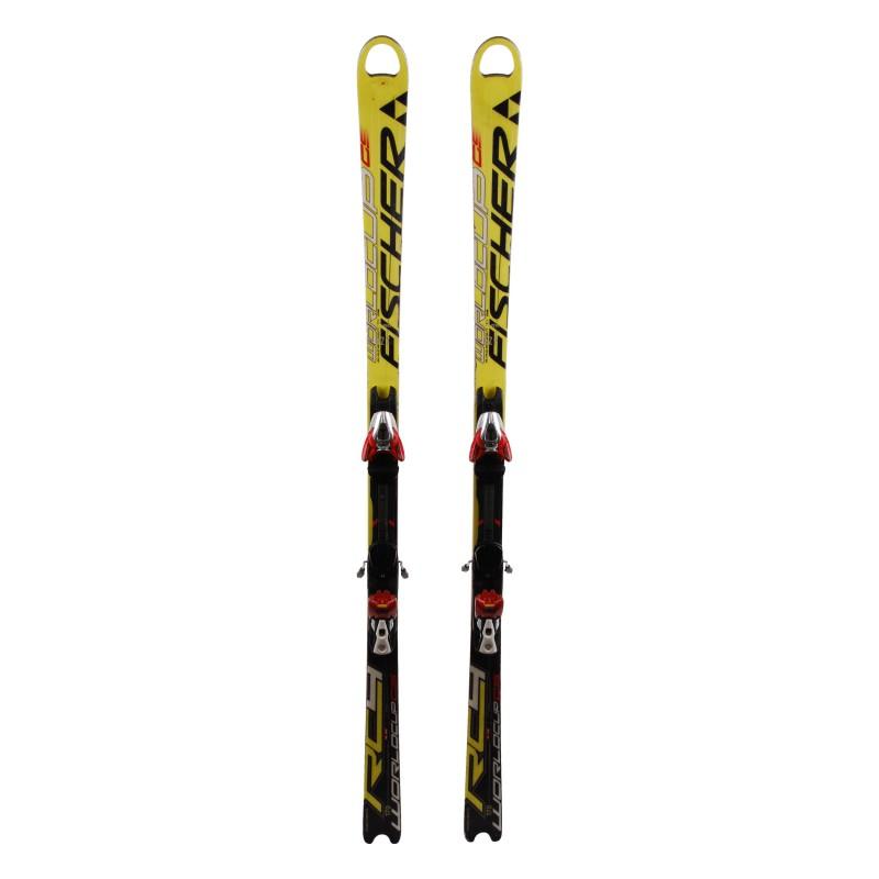 Junior Ski Fischer RC4 Weltcup GS Gelb / Schwarz + Bindung