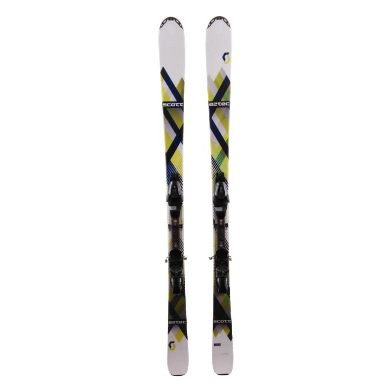 esquí Scott Aztec azul verde + fijaciones