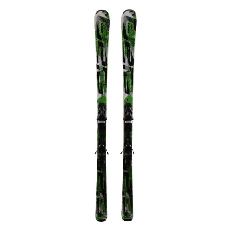 Ski Gebraucht Elan Amphibio Waveflex 78 Ti Schwarz Grün + Bindungen