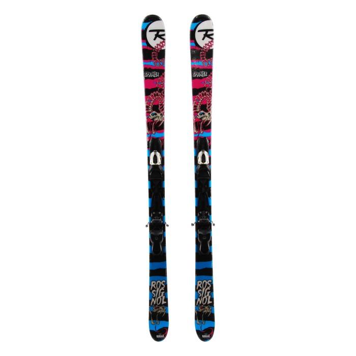 Ocasión de esquí Rossignol Sprayer rosa azul - fijaciones