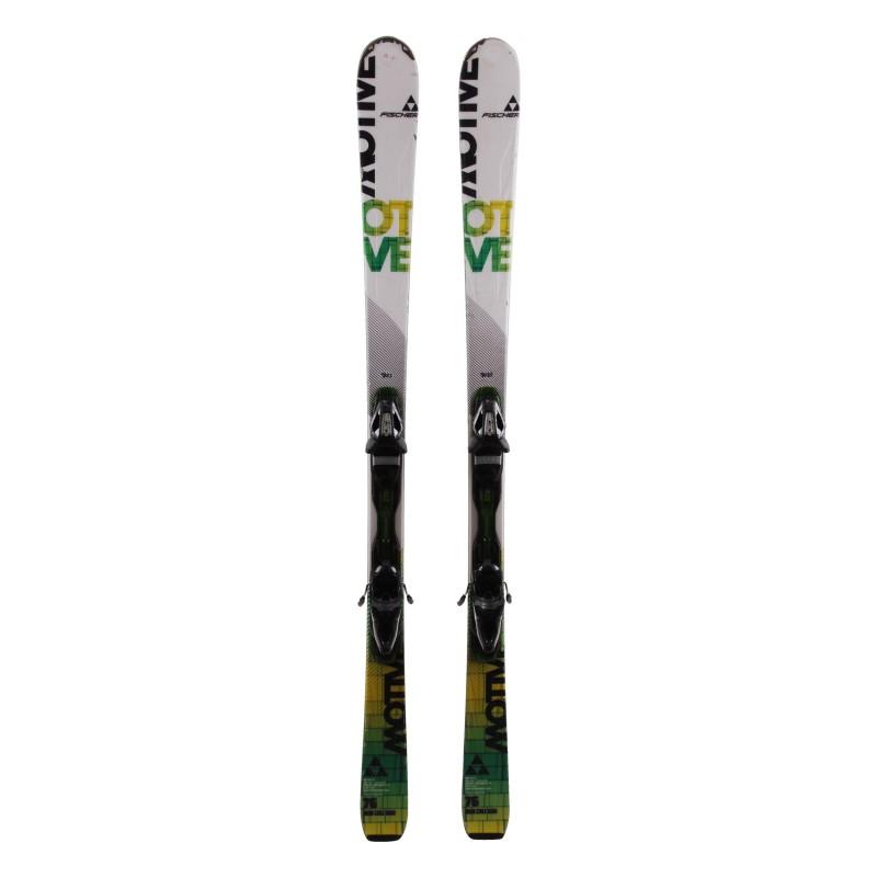 Ski-Anlass Fischer Motiv 76 weiß grün + Bindungen