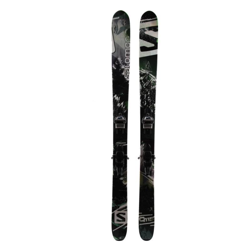 Ski Salomon Q 115 occasion Qualité A + fixations