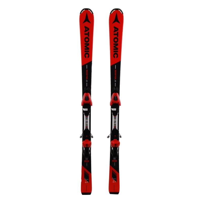Junior Ski Atomic Redster J4 schwarz / rot 2. Wahl + Bindungen