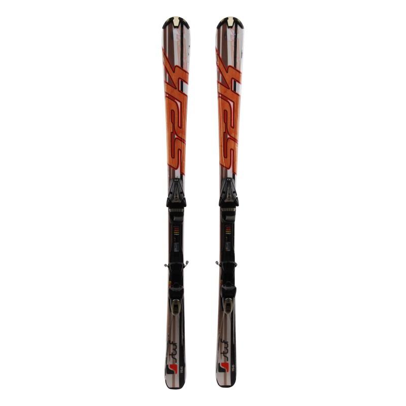 Ski used Stuf S2K brown + bindings