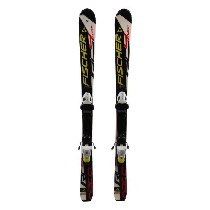 Junior ski Fischer Race RC4 White / black + bindings
