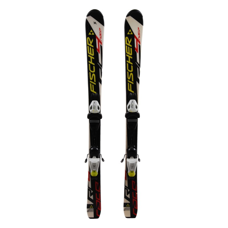 Ski Junior Fischer Race RC4 Blanco / negro + fijaciones