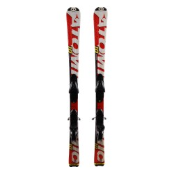 Junior ski Atomic race 7/8 Interski white red + bindings