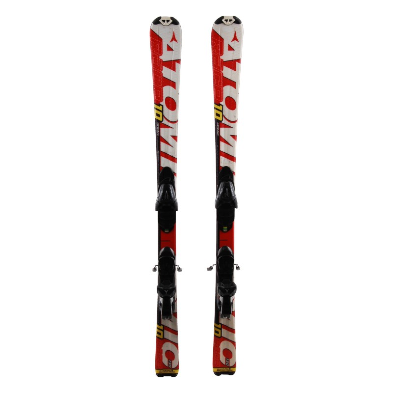 Junior esquí Atomic race 7/8 Interski blanco rojo + fijaciones