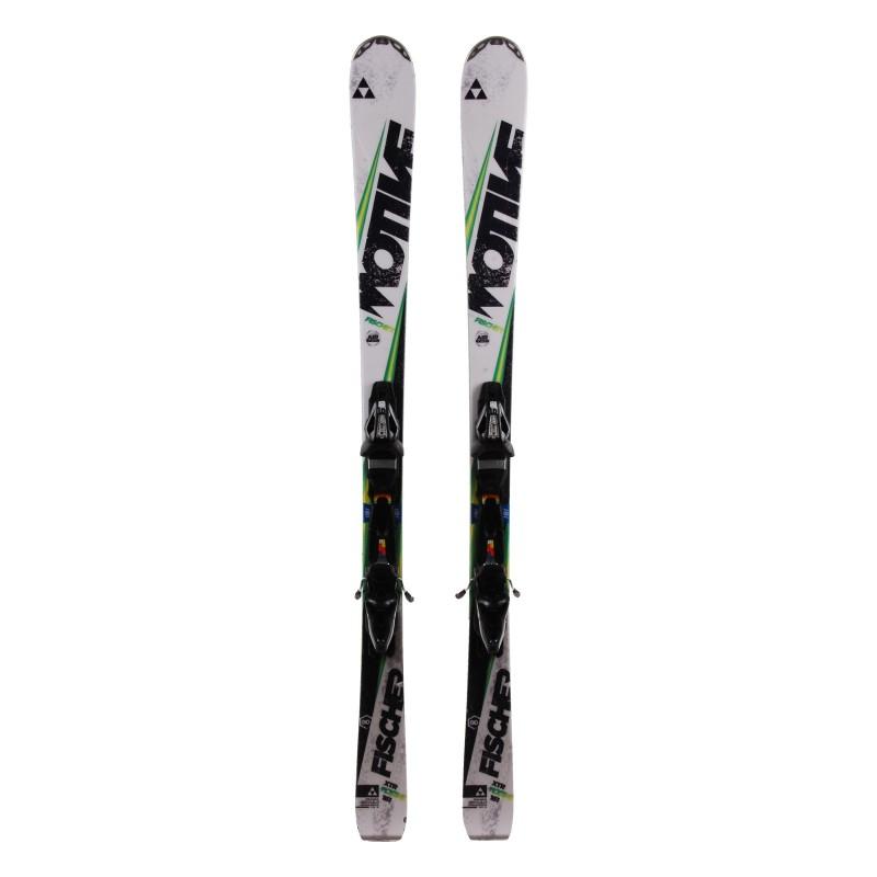 Ski verwendet Fischer XTR Motiv 80 schwarz grün + Bindungen