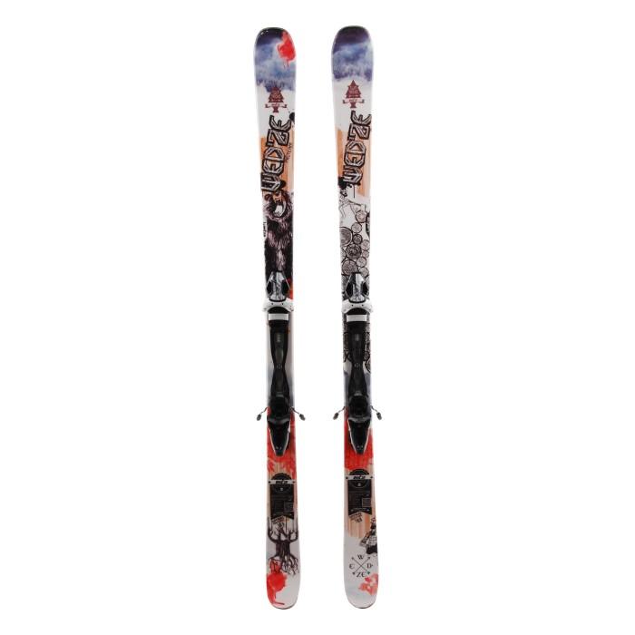 Ocasión de esquí junior Wedze Twintricks Pro Team - fijaciones