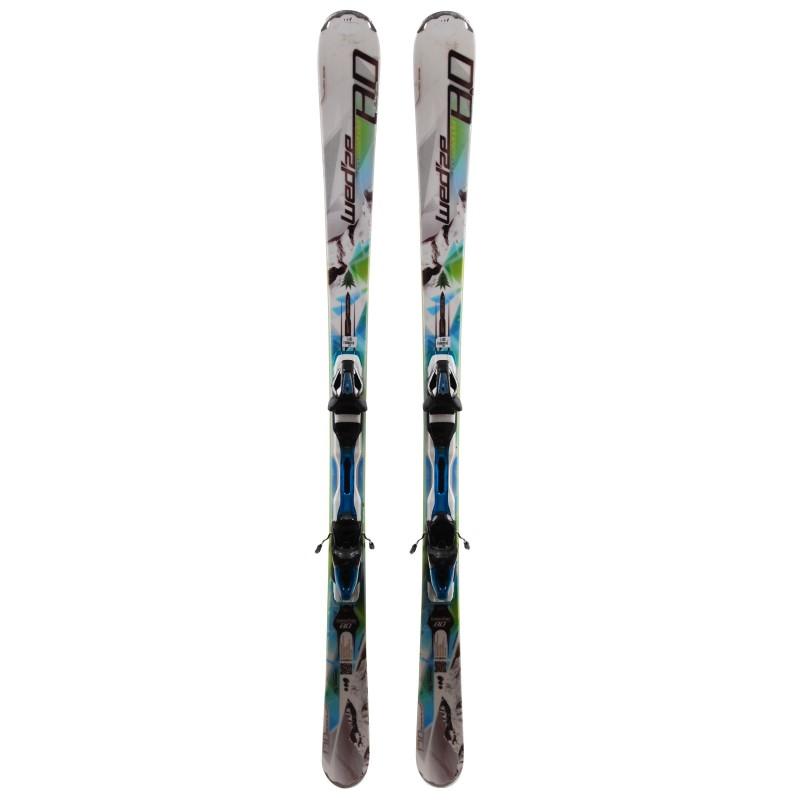 Gebrauchter Ski Wedze Crosslander 8.0 weiß grün 2. Wahl + Bindungen