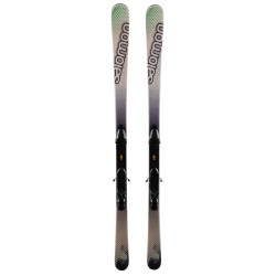 Salomon Focus green white ski + bindings